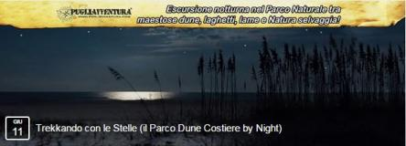 Trekkando con le stelle: il Parco Dune Costiere by night