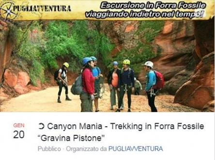Canyon mania: Trekking in forra fossile