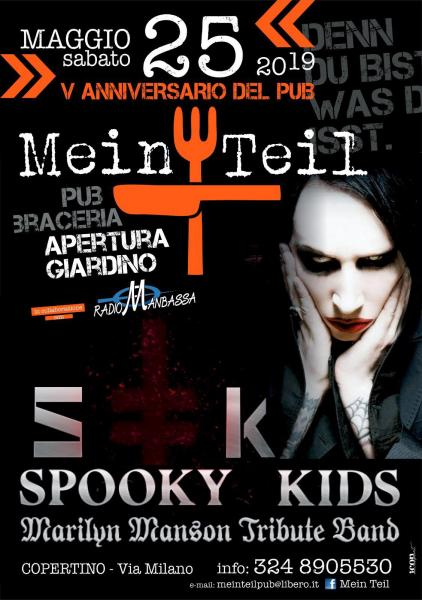 Spooky Kids Marilyn Manson Tribute Band in concerto